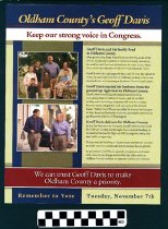 """Image of """"We can trust Geoff Davis to make Oldham County a Priority"""""""
