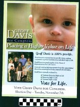 Image of Geoff Davis for Congress; Placing a higher value on Life.