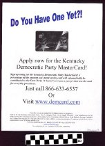 Image of Apply now for the Kentucky Democratic party mastercard