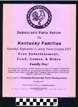 Image of Democratic Party Salute: Kentucky Families -