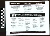 Image of 13 Numbers that Tell how poorly George Bush and the Republican Congress hav