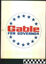 Image of Gable for Governor