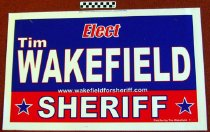 Image of Elect Tim Wakefield: Sheriff