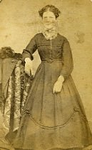 Image of Carte de visite of Standing Young Woman