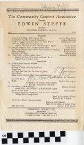 Image of Edwin Steffe concert program