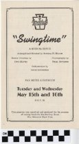 Image of Swingtime; A Musical Revue [play program] -