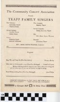 Image of The Trapp Family Singers program