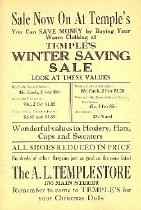 Image of Temple Store Sale Flier