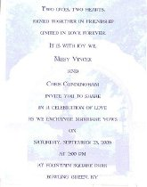 Image of Vincek Cunningham Invitation