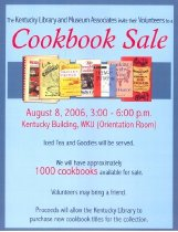 Image of Cookbook Sale - Kentucky Library