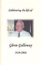 Image of Galloway Funeral Program
