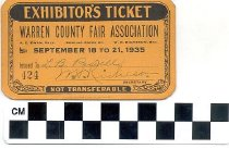Image of Exhibitor's Ticket, 1935