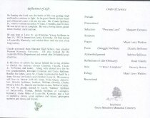 Image of Spillman Funeral Order