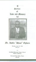 Image of Ogburn Funeral Program