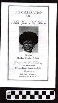Image of Janice L. Davis funeral program