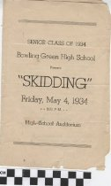 "Image of ""Skidding"" play program, 1934"