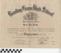 Image of Bowling Green High School Diploma 1935