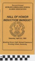 Image of Hall of Honor Induction Banquet Program