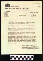 Image of Letter from the Woman's Division Republican Headquartersq
