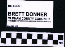 Image of Re-Elect Brett DOnner Oldham County Coroner.