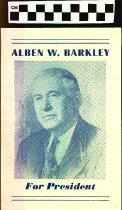 Image of Alben W. Barkley for President