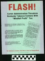 Image of Flash! Carter Administration Threatens Kentucky Tobacco Farmers