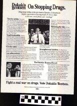 Image of Dukakis/Bentsen: On Stopping Drugs
