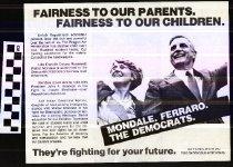 Image of Mondale / Ferraro -- Democrats fighting for the future [political handbill] - Mondale/Ferraro