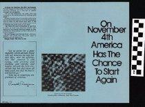 Image of On November 4, America has a chance to start again [political handbill] - Reagan, Ronald