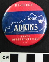 Image of 2007.226.2 - Rocky Adkins political button