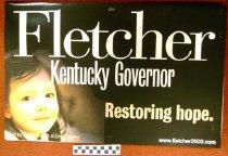 Image of Fletcher Kentucky Governor: Restoring hope