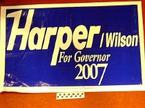 Image of Harper/Wilson for Governor 2007