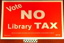 Image of Vote no library tax