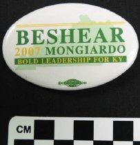 Image of 2007.226.4 - Steve Beshear and  Dan Mongiardo political button