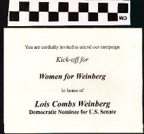 Image of Kick-off for Women for Weinberg: Lois Combs Weinberg