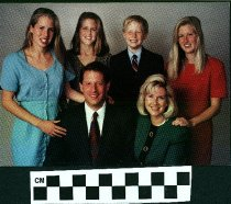 Image of Vice President Al GOre and Family Christmas Wishes