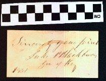 Image of Autograph of Luke Pryor Blackburn