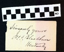 Image of Autograph of Joseph Clay Stiles Blackburn
