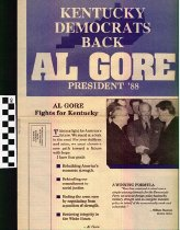 Image of Kentucky Democrats Back Al Gore President 1988