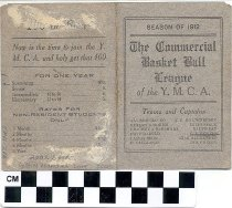 Image of The Commercial Basket Ball League of the YMCA Scorecard