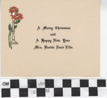 Image of Christmas Card with Poinsettia illustration