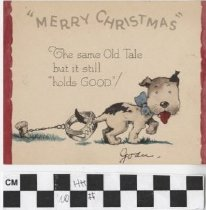 Image of Christmas Card with dog illustration