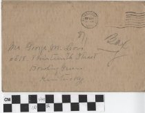 Image of christmas card envelope