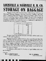 Image of L & N R. R. Baggage Storage