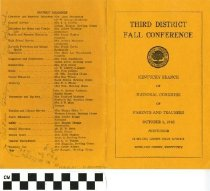 Image of Third District Fall Conference program, front