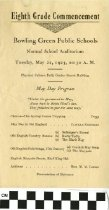 Image of Eigth Grade Commencement program