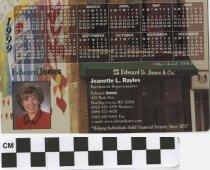 Image of Edward Jones 1999 Magnetic Calendar