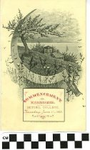 Image of Bethel College Commencement Exercises program, 1885 front