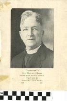 Image of Testimonial program to Rev. Thomas J. Hayes, front