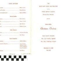Image of Christmas Oratorio program, 1972